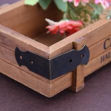 12 шт четыре отверстия декоративные антикварные ювелирные изделия Подарочная коробка Угловой протектор ящика шкафа декоративный протектор для углов
