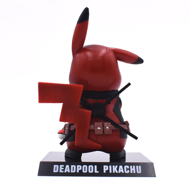 Genuine Deadpool Action Figure Pikachu Cosplay Deadpool Collectible Model Toy 15cm Pikachu Doll Superhero Toys FREE SHIPPING 5