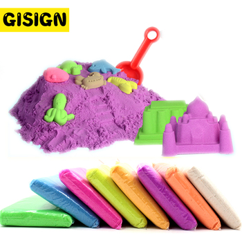 100g/bag Sand Slime Soft Clay Novelty Beach Toys Model Clay Dynamic Moving Magic Sand Toys for Children 100g bag magic dynamic sand toys clay super colored soft slime space play sand antistress supplies educational toys for kids
