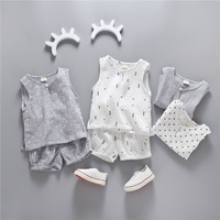 Baby Boys Girl Clothes Summer 2018 Cotton Pyjamas Suits T shirt + Shorts Sleeveless Children's Clothing 2PC Kids Pajamas set