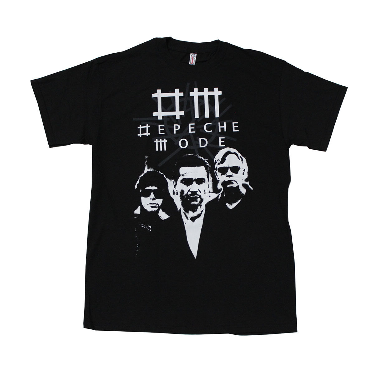 Depeche Mode Electronic Band Graphic Black High Quality Custom Printed Tops Hipster Tees T-Shirt Pop Cotton Man Tee