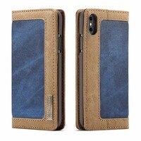 Роскошный кожаный кошелек с застежкой Pour Магнитная крышка Fundas для iPhone 5 6S 6 плюс 7 8 7 Plus 8 8 Plus X XS XR XS Max чехол для телефона JS0815
