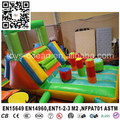 mini inflatable slide with obstacle course for kids family use
