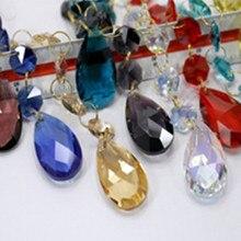 8 шт./партия(105 мм) Разноцветные кристаллы стеклянные подвесные люстры(38 мм Хрустальное стекло слеза ангела с 3 шт 14 мм Восьмиугольные бусины