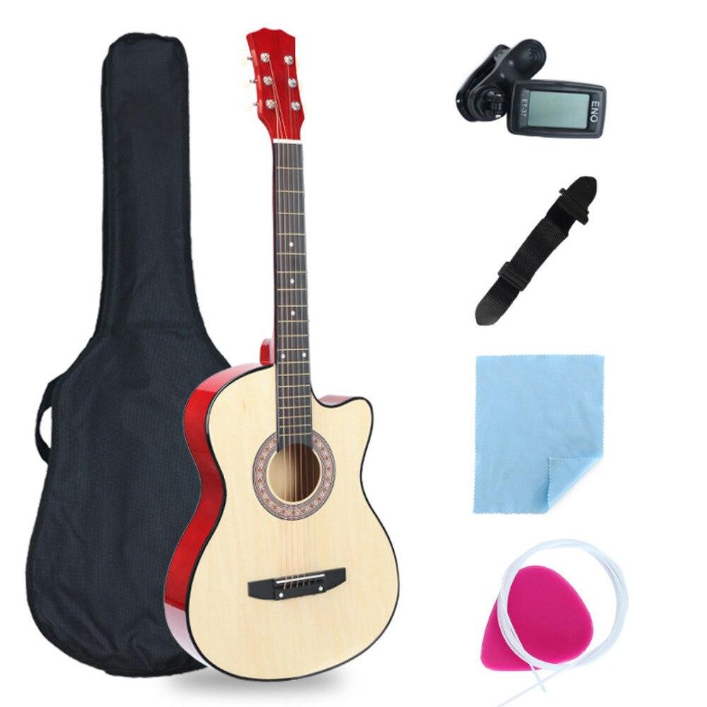 38 tums saknad vinkelgitarr full utrustning nybörjare introduktion - Skola och pedagogiska förnödenheter - Foto 3