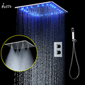 20 InchesThermostatic Shower Set SUS304 Mirror Panel with LED Shower Head Rainfall Spray Mist SPA Concealed  with Handheld Spray