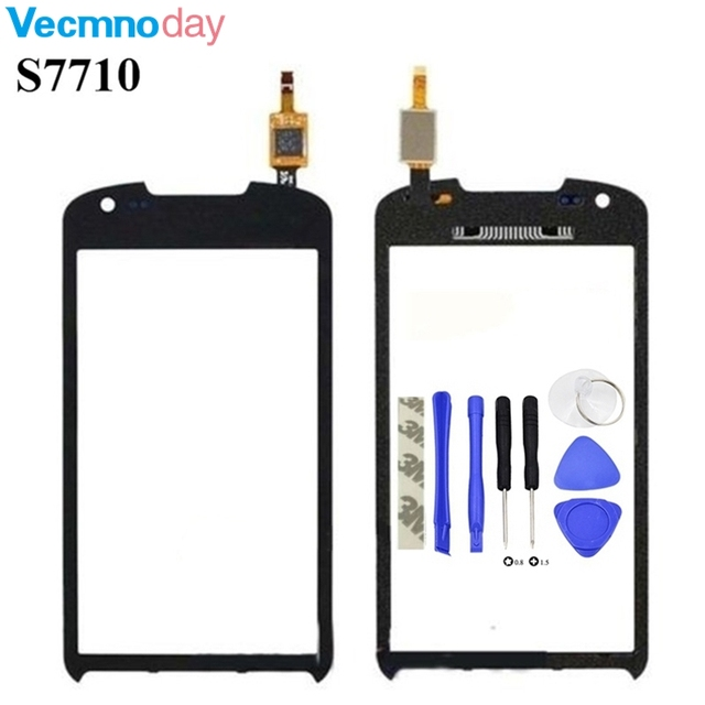 Vecmnoday New Touch Screen Digitizer Glass Lens For Samsung Galaxy Xcover 2 S7710 + Tools
