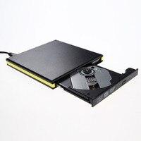 สีดำแบบพกพาUSB3.0สีขอบของมือถือไดรฟ์กล่อง12.7มิลลิเมตรexternal dvd burnerสำหรับแล็ปท็อปพีซีขนาด