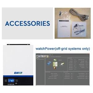 Image 5 - EASUN moc USB Bluetooth 5000W falownik 500Vdc wejście PV 230Vac 48V 80A ładowarka słoneczna MPPT wsparcie mobilne monitorowanie sterowanie LCD
