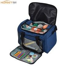 KOKNIT Empty Yarn Storage Bag Household Portable Tote Case For Crochet Hooks and Knitting Needles Balls Holder
