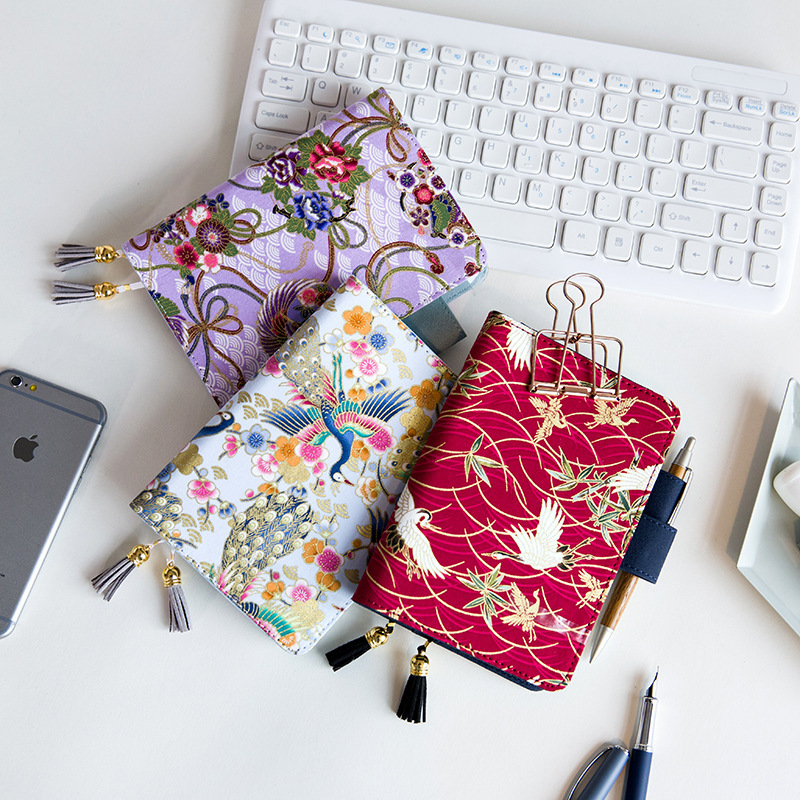 Climemo Brand Notebook, Cloth Cover, Chinese Style Embroidery, Peacock Phoenix Crane Notepad Diary Journal School A5 A6