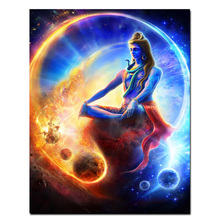 Cross Stitch DIY Painting 5D Diamond Home Decor Buddha Indian Shiva Lord Picture Embroidery Pattern Sticker Full Square Drill