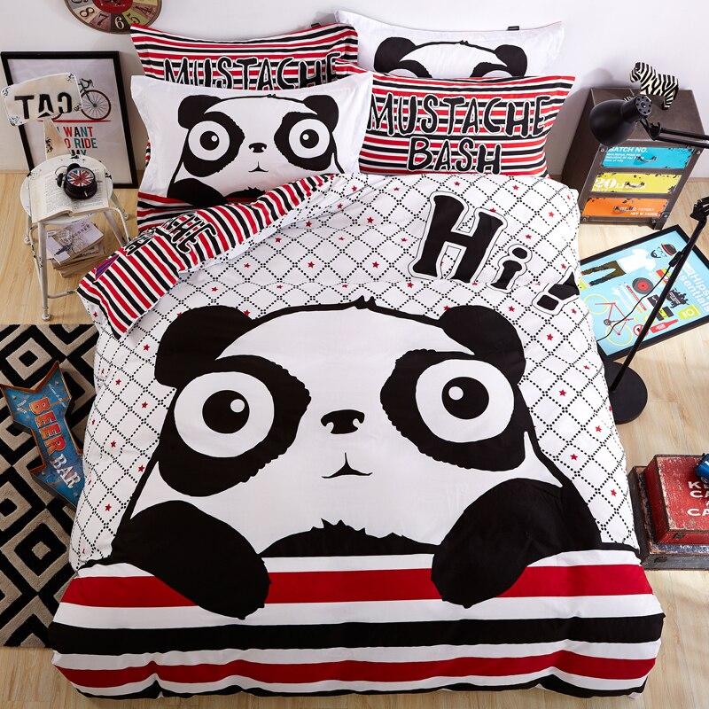 Ivarose 2017 new 100 cotton panda bedding sets kids white for New duvet covers 2017