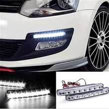 New Arrival 2Pcs Universal DRL LED Daytime Running Light Car Daylight Lamp with Turn Lights