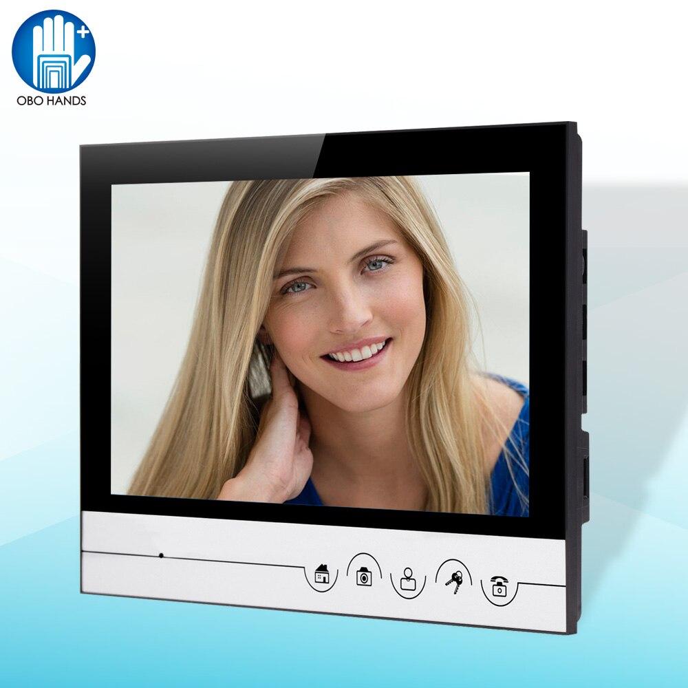 9 TFT Color Video Door Phone Intercom System Video Doorbell Indoor Monitor Unit with 12 Ringtone