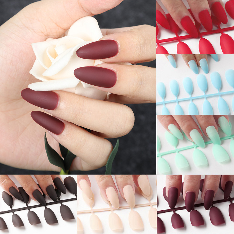 HOT OFFER) Pattern In French Joker Contracted Fake Nails Of
