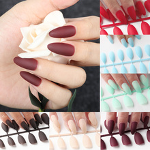 ROSALIND 24pcs Matte Fake Nails Nail Art Manicure Tips For False Nail Art Decoration Forms Extension Manicure Art False Nails