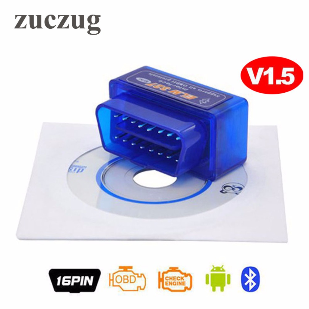 Interface MINI ELM327 Bluetooth v1.5 PIC18F25K80 chip ELM 327 Version 1.5 OBD2 / OBDII for Android Torque Car Code Scanner elm327 d2 obd2 obdii bluetooth adapter auto scanner torque android