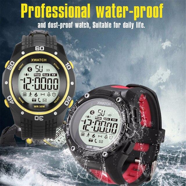1xwatch Bluetooth 4.0 Smart Watch Водонепроницаемый Smartwatch Наручные Шагомер Удаленной Камеры Спорт Браслет Для iOS Android Мужчин