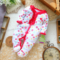 2015 Autumn Baby Girl Romper Fashion Crawling Service Single Tier Romper Baby Romper One Piece