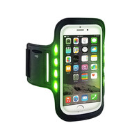 Flash led night Universal outdoor Gym Sport Armband Case for iPhone Samsung Accessories Running Phone Pouch Cover Arm Band Case