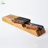 YI HONG Multifunctional Knife Holder Health Bamboo Knife Rest Easy To Cleaning Knife Rack Practical Kitchen Accessories