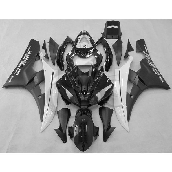 Black ABS Plastic Fairing Kit For YAMAHA YZF R6 YZF-R6 2006-2007 Injection Mold kemimoto r6 motorcycle complete full set of fairing bolts bolt kit body screws for yamaha yzf r6 2006 2007 r6