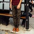 SIMWOOD 2016 Nova Outono Inverno tático Calças Da Carga Dos Homens calças de camuflagem Moda sportwear KX5532