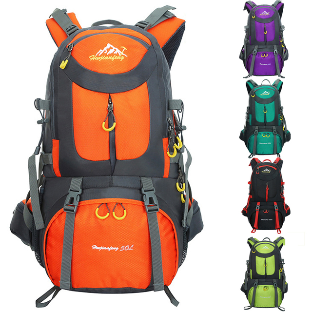 17fc0b0e8d9b US $28.9 38% OFF|Fashion Unisex Backpack 50L Lightweight Waterproof  Backpacks for Men Big Load Shoulder bags Rucksack for Traveling-in  Backpacks from ...