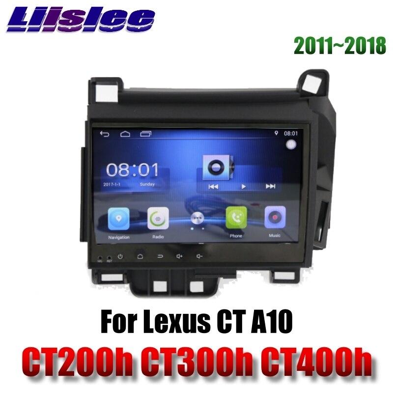 Pour Lexus CT A10 CT200h CT300h CT400h 2011 ~ 2018 Liislee lecteur multimédia de voiture NAVI cartes Radio stéréo Navigation GPS