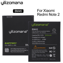 YILIZOMANA Li-ion Battery BM45 For Xiaomi RedMi Note 2 Bateria Hongmi Red Rice Note2 3000mAh High Capacity Batteries