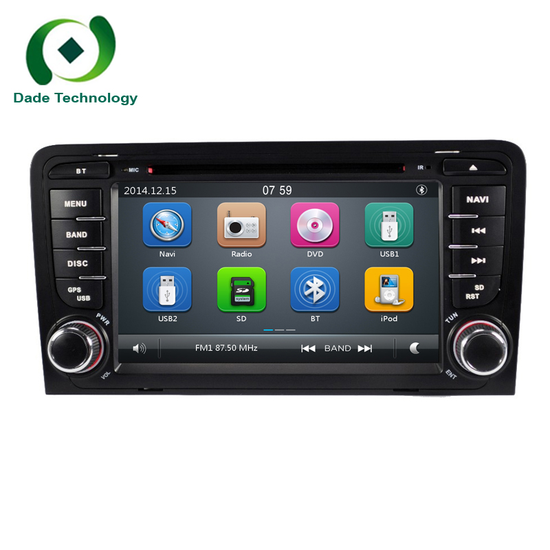 imágenes para Para Audi A3 S3 2002-2011 2din coche multimedia reproductor de dvd GPS de Navegación de radio estéreo de Audio Bluetooth SWT USB SD del envío gratis