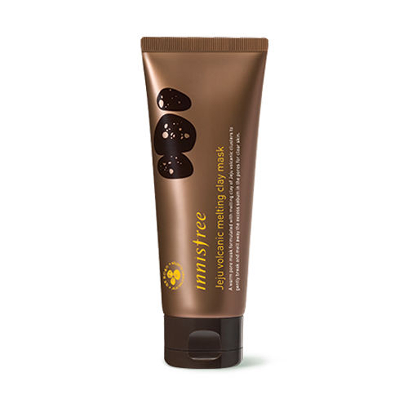 Korea Cosmetic Jeju Volcanic Melting Clay Mask 100ml Face Mask Sebum Pores Remove Blackhead Oil Control Shrink Pores Facial Mask american aztec aztec indian treatment clay 1 pounds natural god clay mask to clean pores 454g