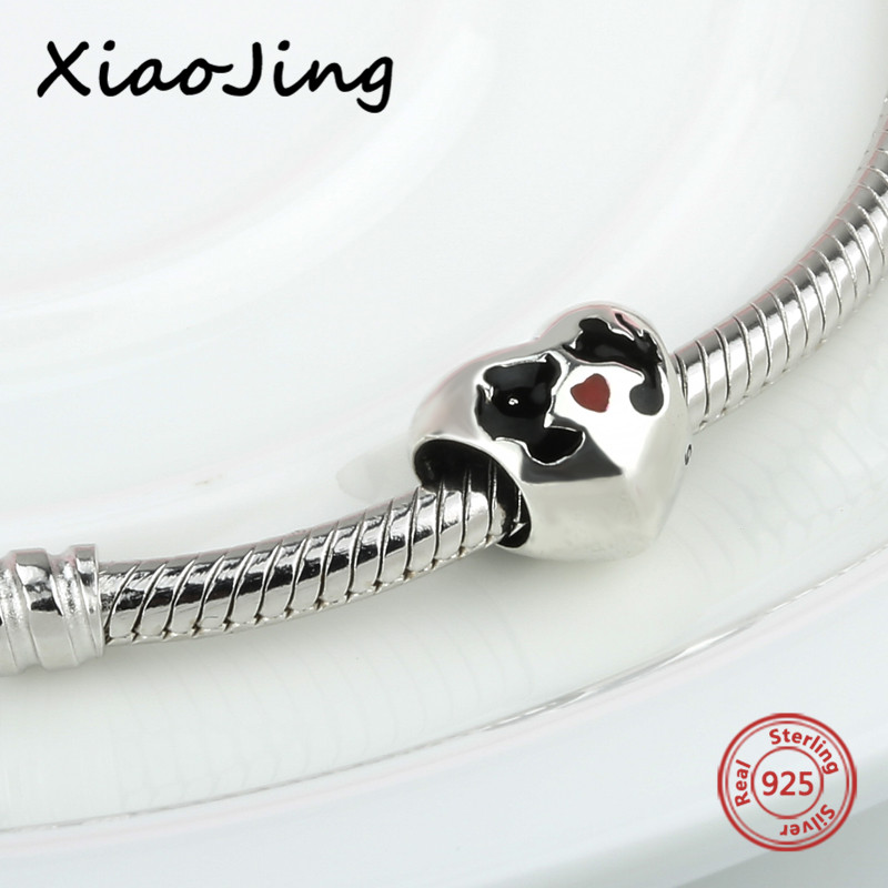 100 925 Sterling Silver charms romantic diy love heart shape Beads Fit authentic pandora Bracelets Jewelry making women Gifts in Beads from Jewelry Accessories