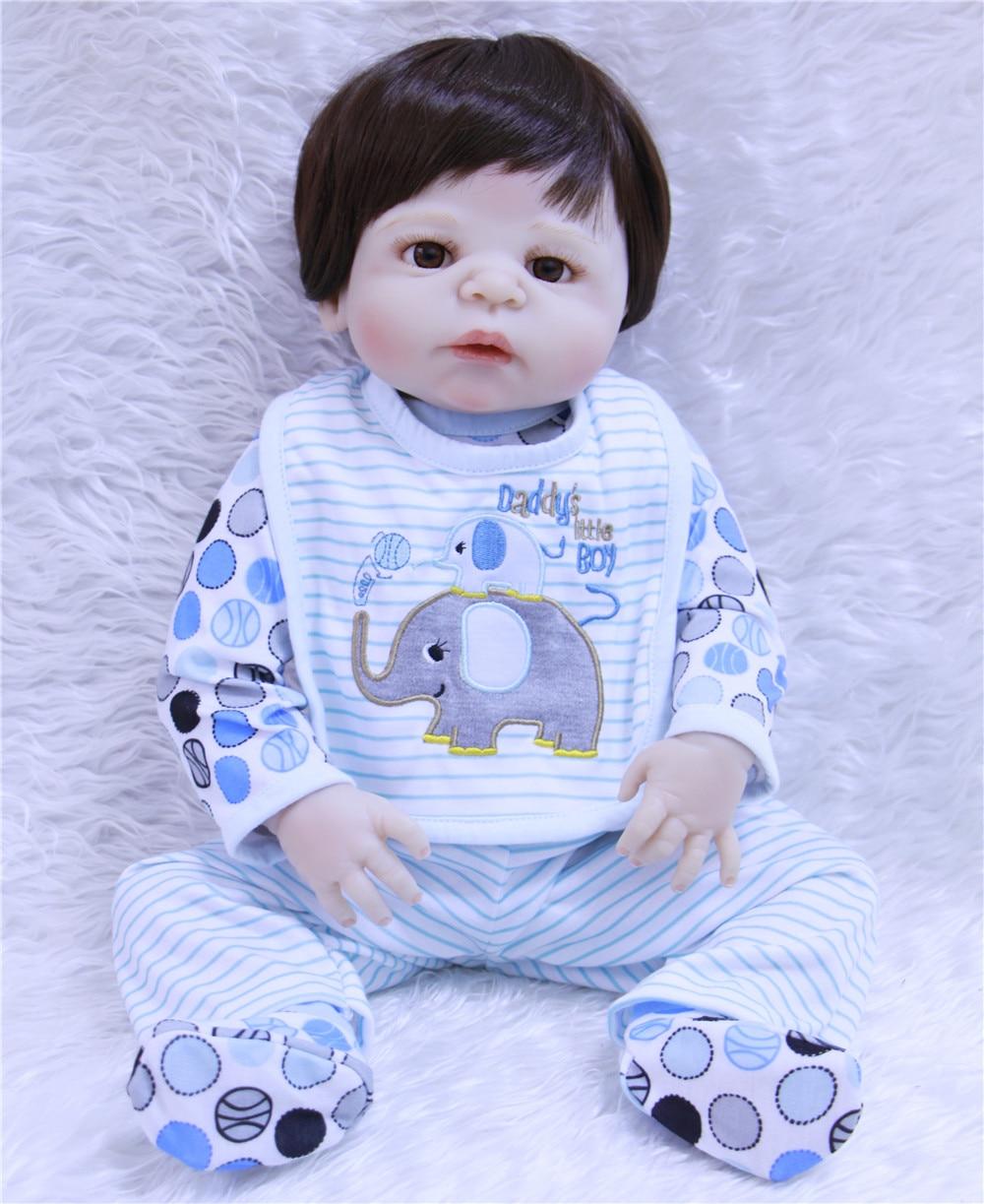 Npk Male Silicone Dolls 55cm Reaborn Baby Realistic Boy