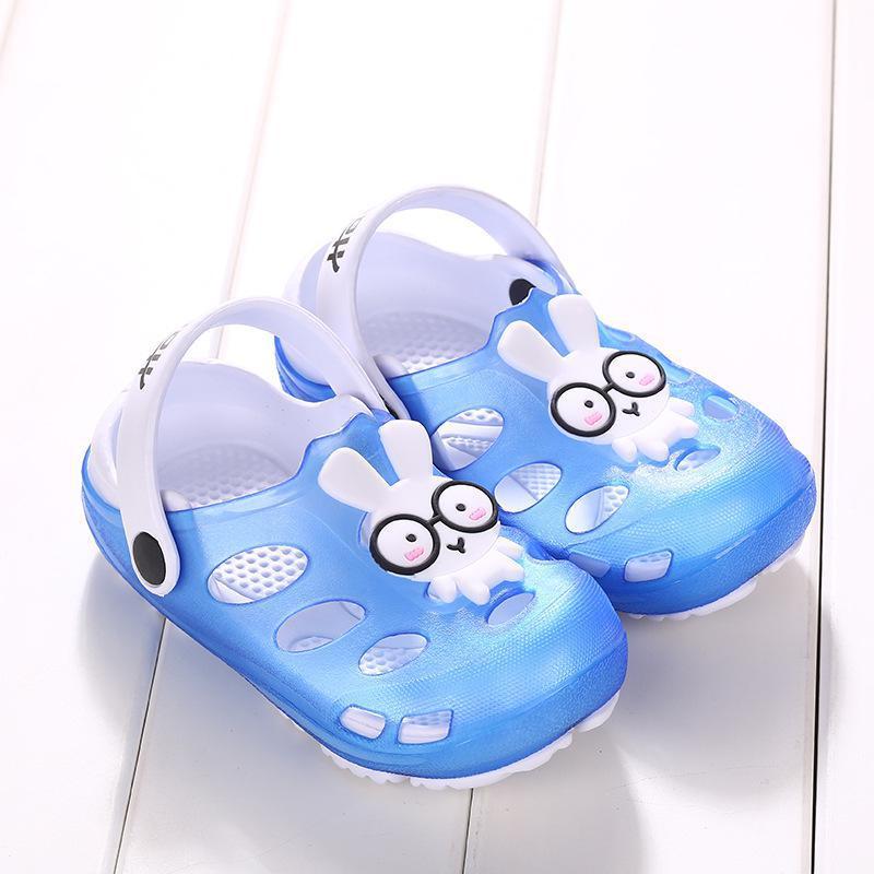 Summer Kids Girls Boys Sandals Shoes Cute Cartoon Comfortable Non-slip Children Sandals Cute Children Hollow Out Beach Shoes