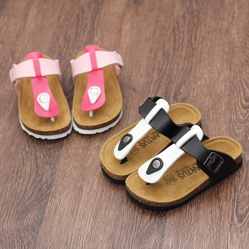 LARTUS Children Shoes Boys Cork Sandals Baby Slippers Summer Mixed Colors  Flip Flops Girls Shoes Children Beach Shoes 9236b-in Sandals from Mother   Kids  on ... 15d7934321d4