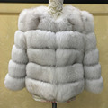 Real Fox Fur Coats Luxury Genuine Fox Fur Famale Jacket Outwear Clothes Natural Fox Fur Winter Coats Women M-2XL