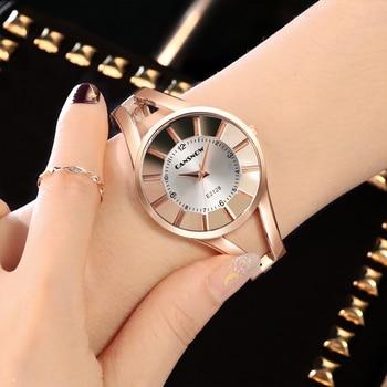 CANSNOW Women Watch TOP Brand Luxury Wrist Women Watches Ladies Casual Rose Gold Bracelet Watch Relogio Feminino Clock 2019