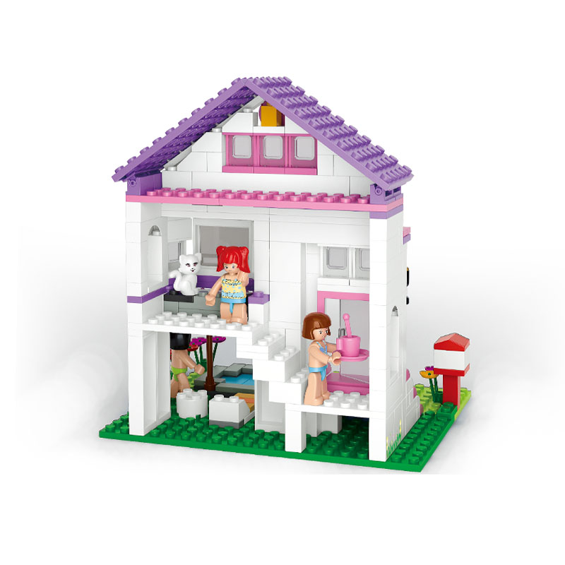 S Model Compatible with Lego B0532 291pcs Girl Pool Villa Models Building Kits Blocks Toys Hobby Hobbies For Boys Girls