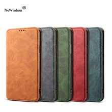 NeWisdom original for iPhone X case Leather Folio Wallet Cases Apple iPhoneX Card Slot flip iphone xs max cover xr men