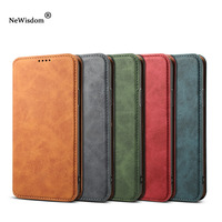 NeWisdom original for iPhone X case Leather Folio Wallet Cases Apple iPhoneX Card Slot flip case iphone xs max cover xr men
