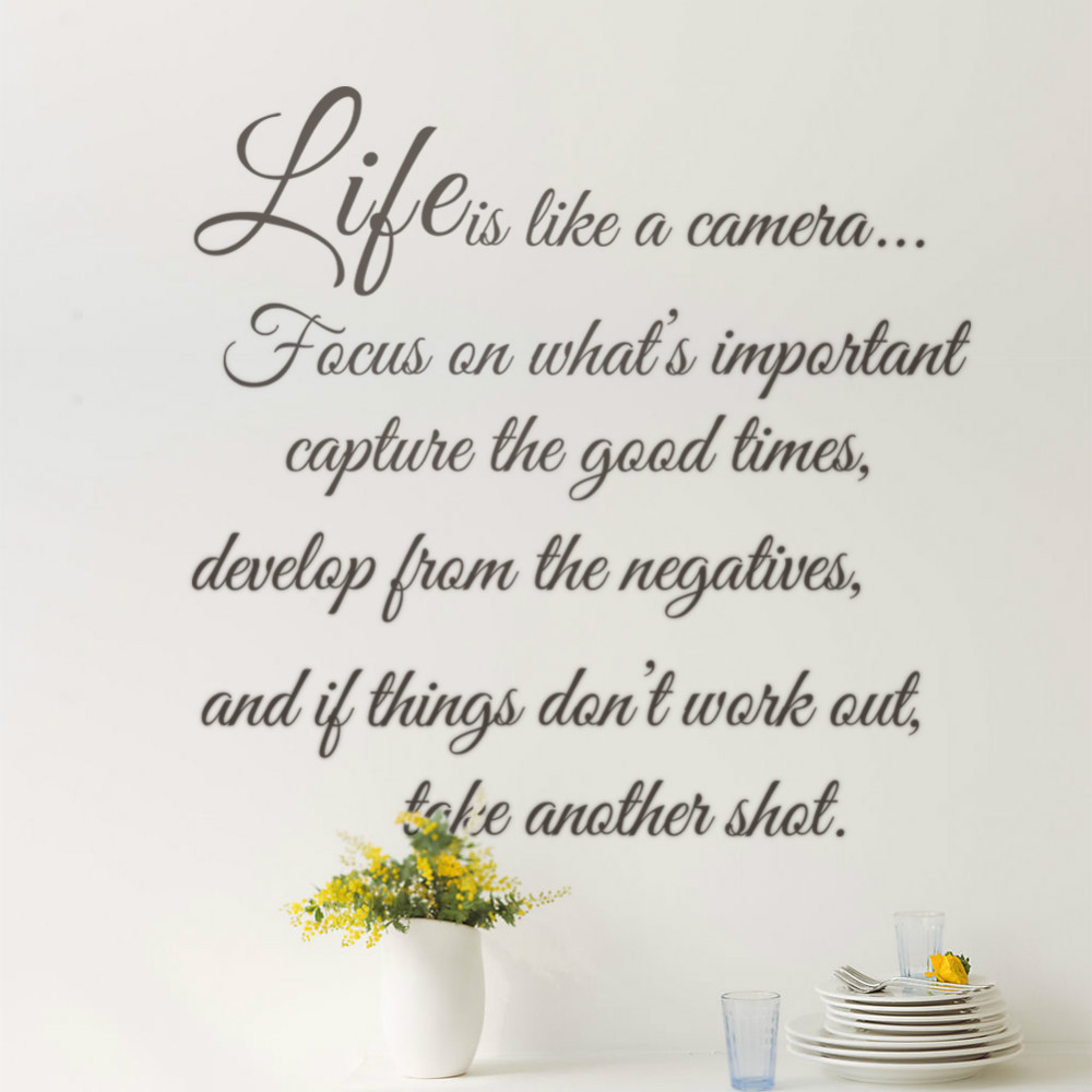 Aliexpress buy details about life is like a cameia life aliexpress buy details about life is like a cameia life quote wall sticker vinyl decal home room decor 8205 remonable wall stickers quote from amipublicfo Gallery