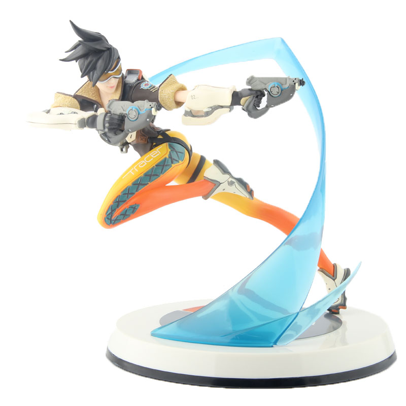 OW Figure Tracer with Light Update Version PVC Statue Toy 10 26cm 1pc lot ow over watch action figure tracer with light update version 26cm high pvc statue retail box 26cm