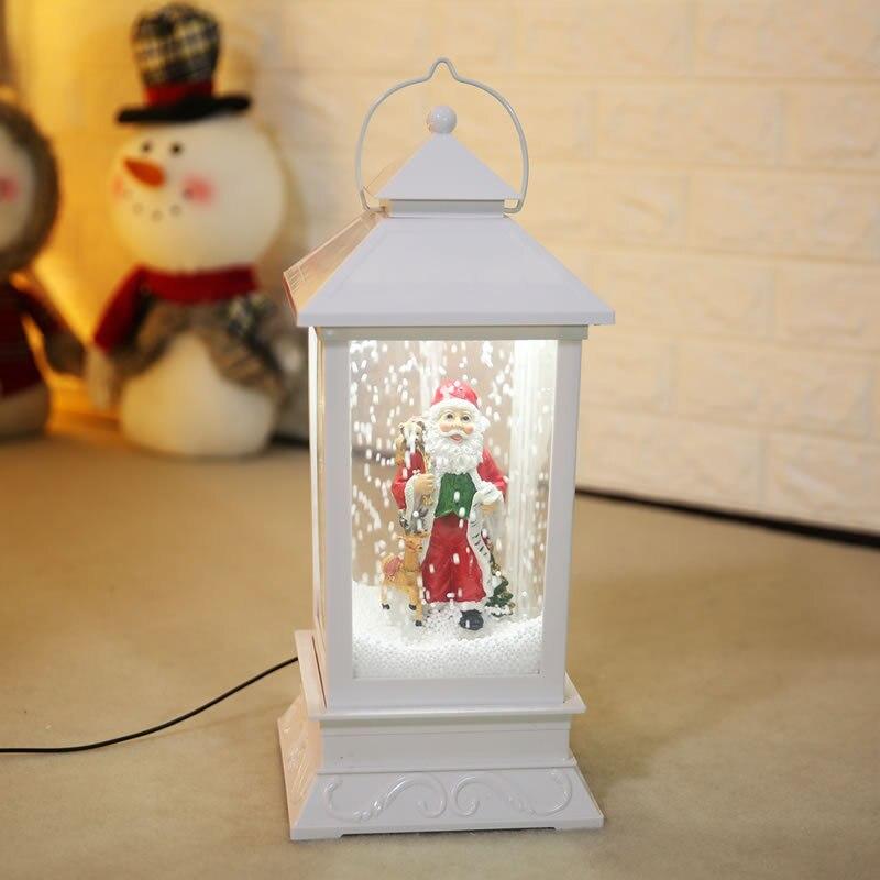 Nouvelles décorations de noël créatif neige musique lanterne Festival scène décoration accessoires brillant boule de verre avec jouet de neige Speelgoed - 4