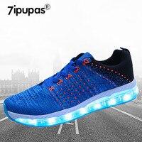 7 ipupas niños niñas Precioso led Luz zapatillas resistentes al Desgaste de absorción de Choque Estudiante sneakers niños Ocio zapatos Luminosos