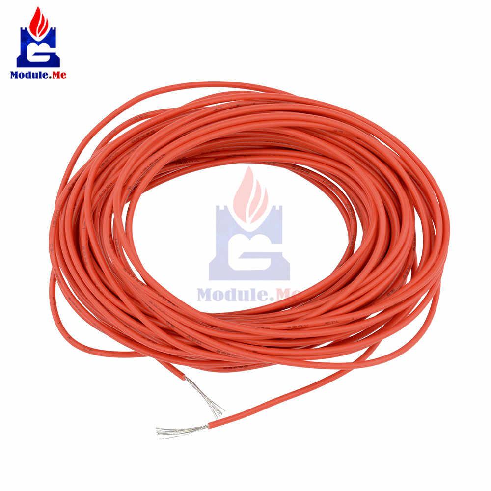 UL-1007 10 M 24AWG Hook-Up Kawat 80C/300 V Tali Merah Lini Listrik