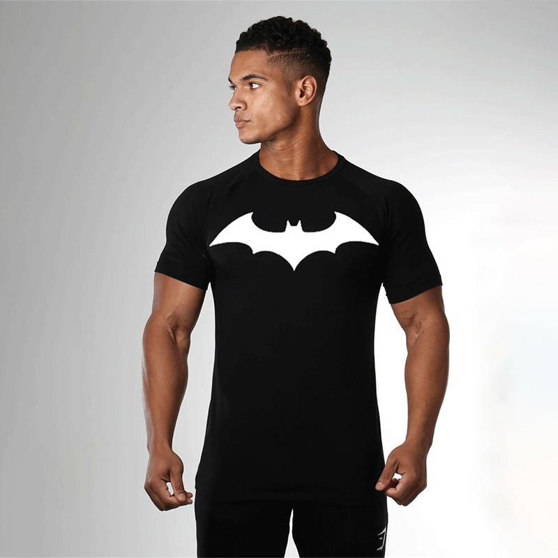 Kapten America T särk 3D trükitud T-särgid Mehed batman Compression Puuvilla Fitness Riietus Body Building Mees Crossfit Tops