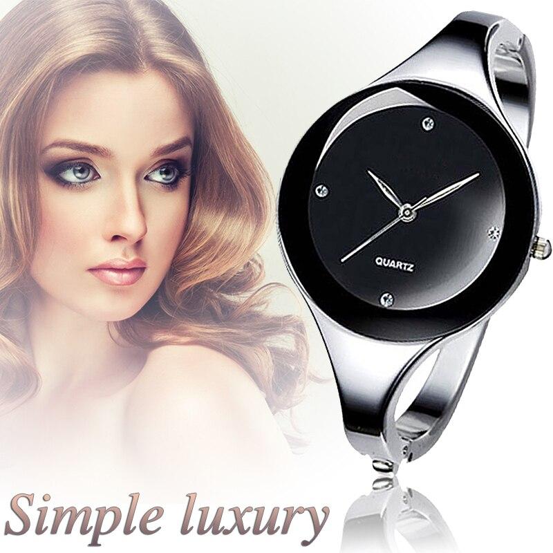 2018 Women Bracelet Watches Crystal Dress Ladies fashion Stainless Steel Round Dial unique designer quartz-watch montres femme