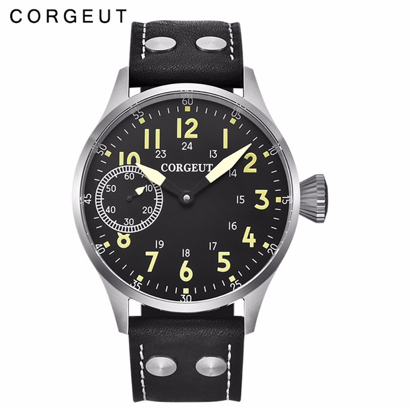 Corgeut Fashion Leather Top Mechanical Wrist Watch Men 17 Jewels Hand Winding 6497 ST3600 Leather Luminous Luxury Top BrandCorgeut Fashion Leather Top Mechanical Wrist Watch Men 17 Jewels Hand Winding 6497 ST3600 Leather Luminous Luxury Top Brand